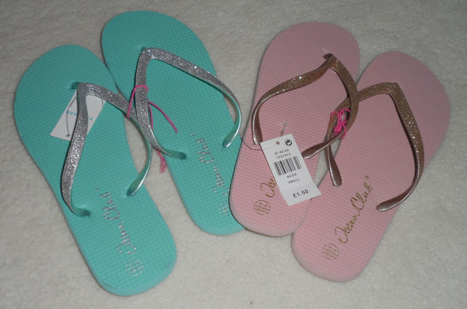 Pink Sparkly Flip Flops