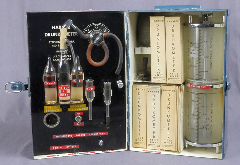 early alcohol testing with the drunkometer national law enforcement museum. Black Bedroom Furniture Sets. Home Design Ideas