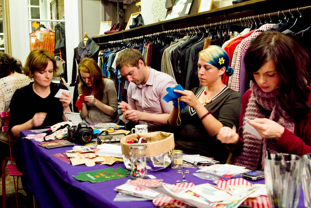 Craftivist launch night by craftivist collective