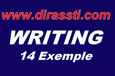 نماذج Writing المتوقع وضعها في امتحانات البكالوريا 2016