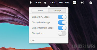 Internet Speed Indicator Elementary OS