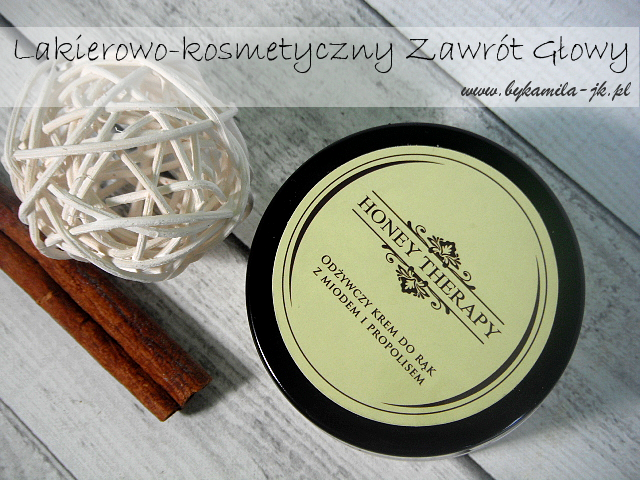 Honey Therapy krem do rąk z miodem i propolisem na zimę