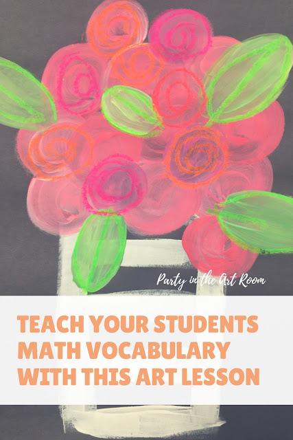 flower art math lesson art vocabulary arts integration