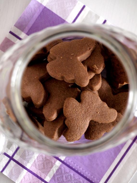 Znalezione obrazy dla zapytania kruche ciastka kakaowe