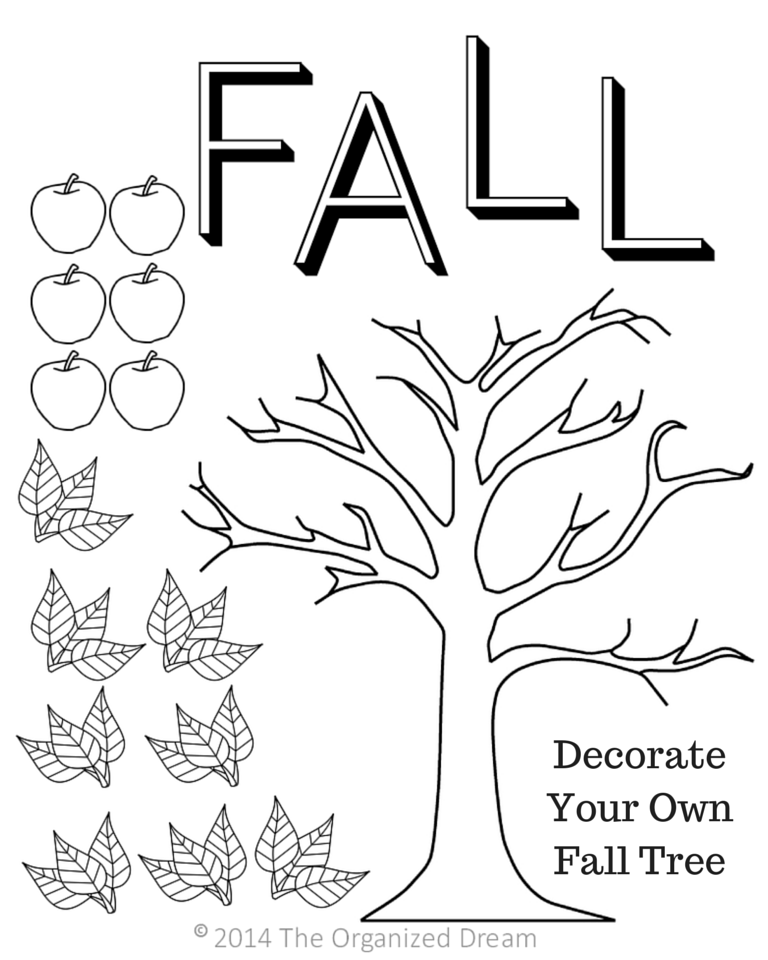 Free Fall Printables Part 1 Kids Activities The Organized Dream