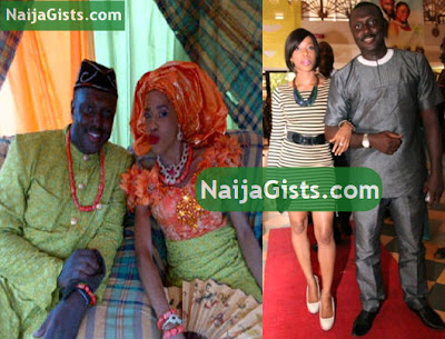 femi brainard's white wedding