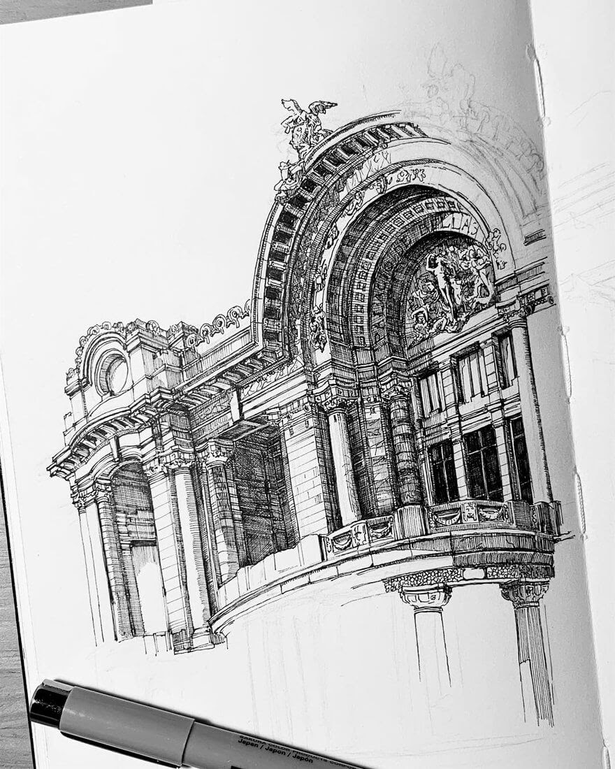 01-Palacio De Bellas-WIP-MISTER-VI-Architectural-Drawings-From-Around-the-World-www-designstack-co