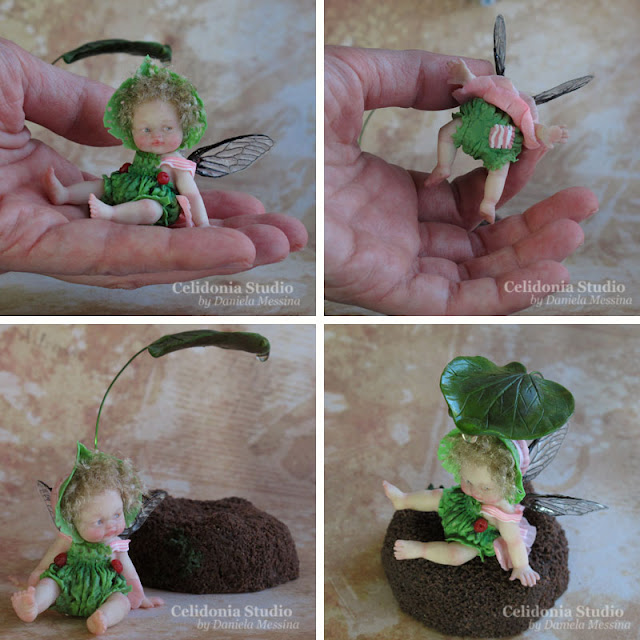 Polymer Clay Fairy ooak by Celidonia - Daniela Messina