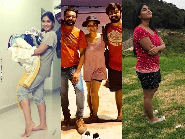 Theevandi Malayalam Movie Actress Samyuktha Menon Hot Thighs Photos