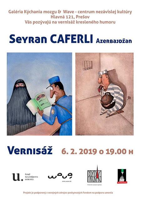 Seyran Caferli Personal Cartoon Exhibition in Slovakia
