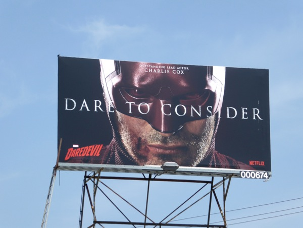 Dare to consider Charlie Cox Daredevil Emmy 2016 billboard
