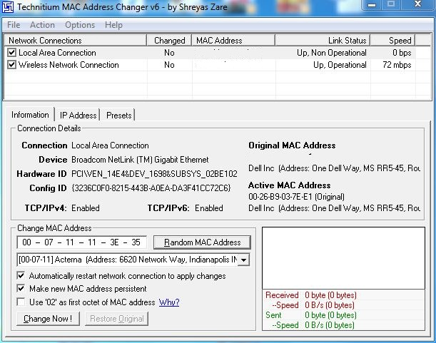 Technical Beats : How to change Mac address in Windows