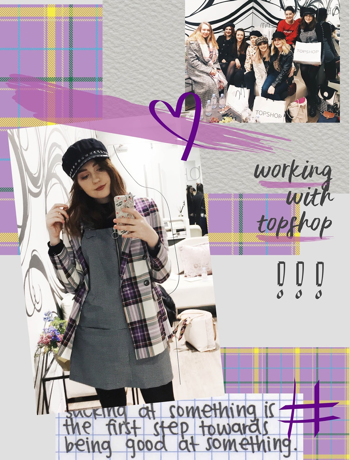 topshop personal shopping liverpool purple collage