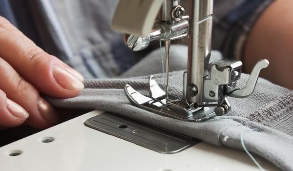 Stitching process in apparel industry