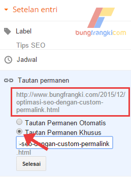 Optimasi SEO Onpage dengan Custom Permalink