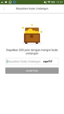 kode undangan dari aplikasi caping android