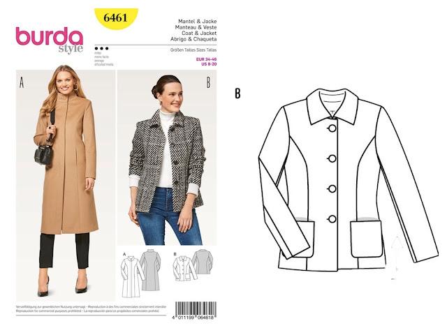 Burda Ladies Sewing Pattern 6461 Coat /& Jacket