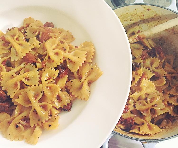 Chilli, Chorizo & Tomato Pasta