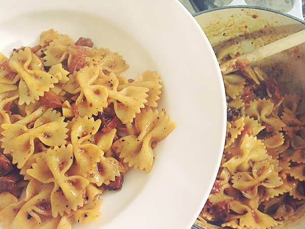 Simple Chilli, Chorizo & Tomato Pasta