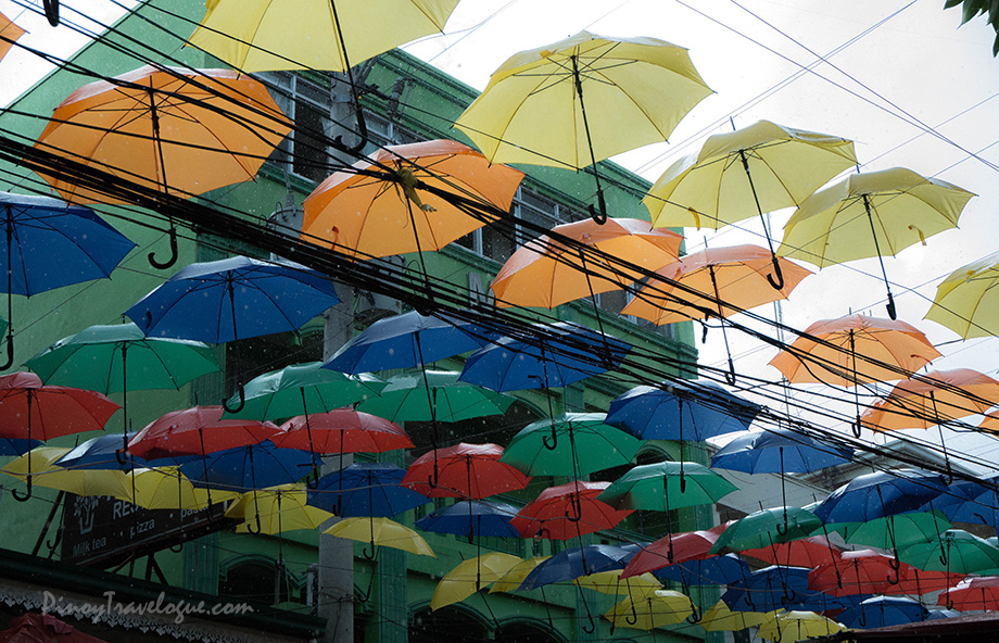 "When those umbrellas were ""put into use"" when it drizzled."