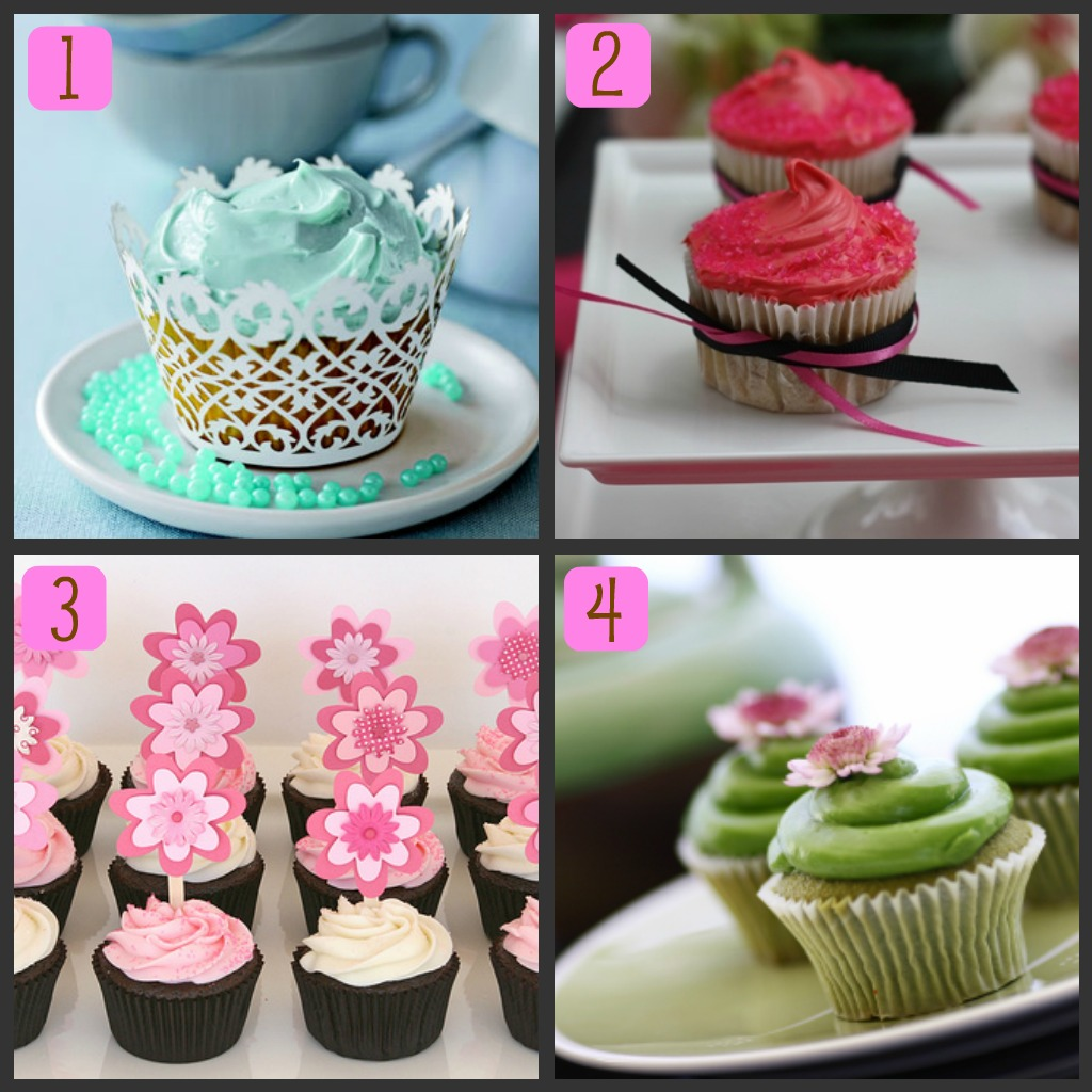 Mega-Pretty Cakes: Simple, Modern, Baby Shower Cupcakes