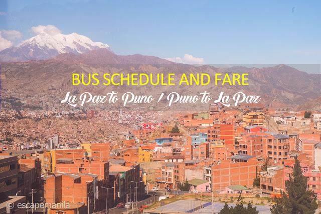 La Paz to Puno Bus Schedule and Fare