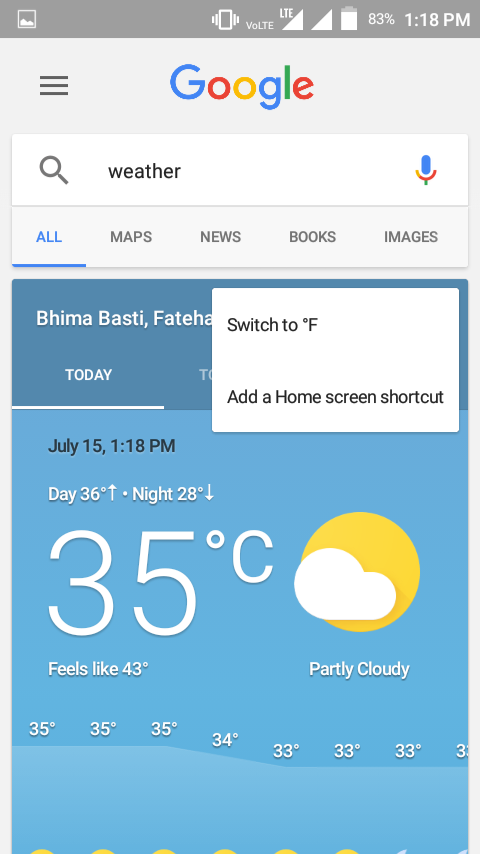 How To Add Google Weather Shortcut,Weather Widget To Home