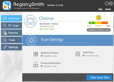 Free download Registry Smith 2.1.6.30 Full Patch