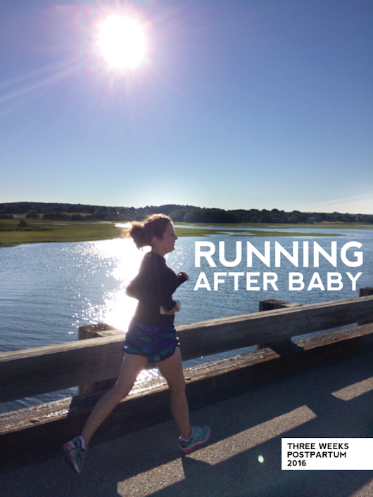 on the road again: running after baby.