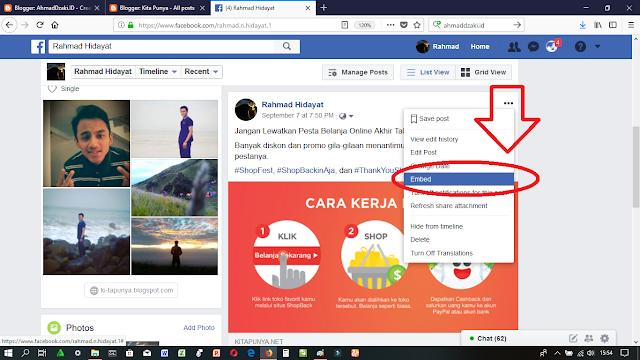 Cara Mengcopy Link Postingan Status Facebook