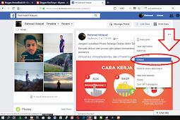 Cara Mengcopy Link Postingan Status Facebook Melalui Web Komputer/Laptop