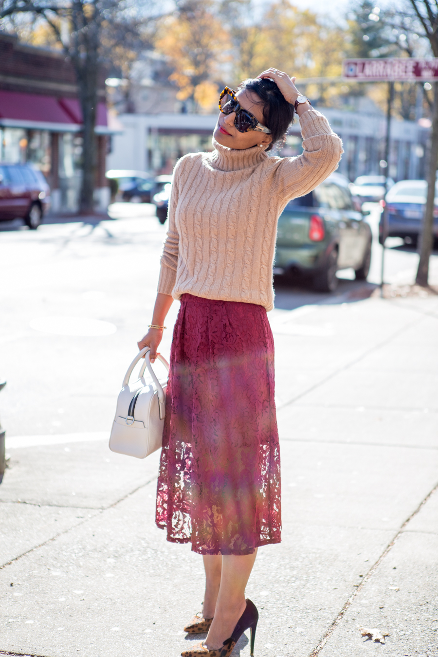 work style, office style, petite fashion, fall fashion, 9to5, office outfit, business casual, feminine work style, dressy, lace skirt, midi skirt, jcrew, h&m, petite style, petite style studio, affordable style, easy style, fashion over 40