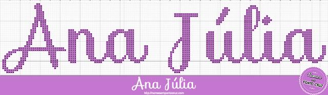 Nome Ana Júlia em Ponto Cruz
