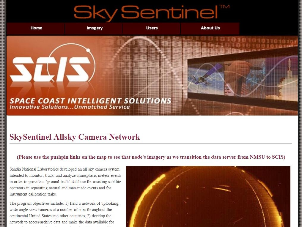 Allsky Camera Network, Space Coast Intelligent Solutions (SCIS)