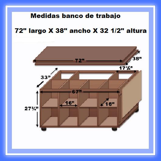 Banco de trabajo de madera web del bricolaje dise o diy for Diseno mesa de trabajo