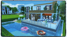 Sims Modern House with Pool 4