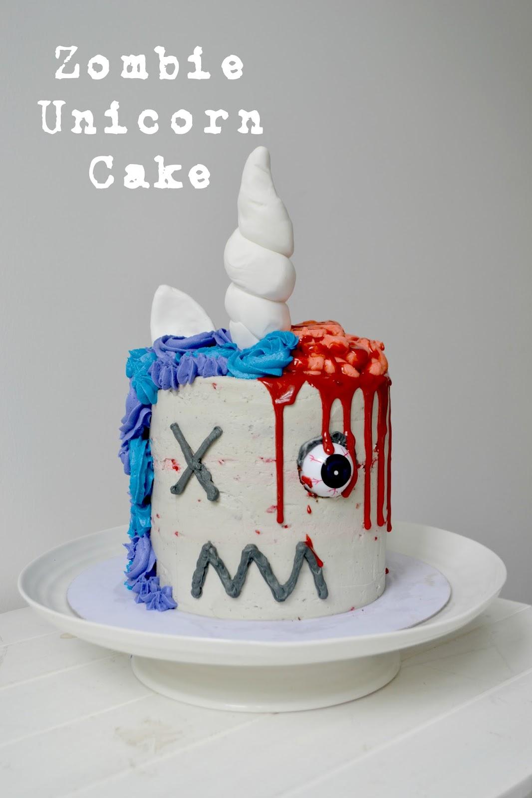 Procrastibake Zombie Unicorn Cake