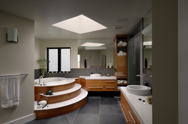 Modern bathroom of armada house