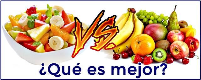 ¿Es mejor comerse una fruta o comerse una ensalada de frutas?