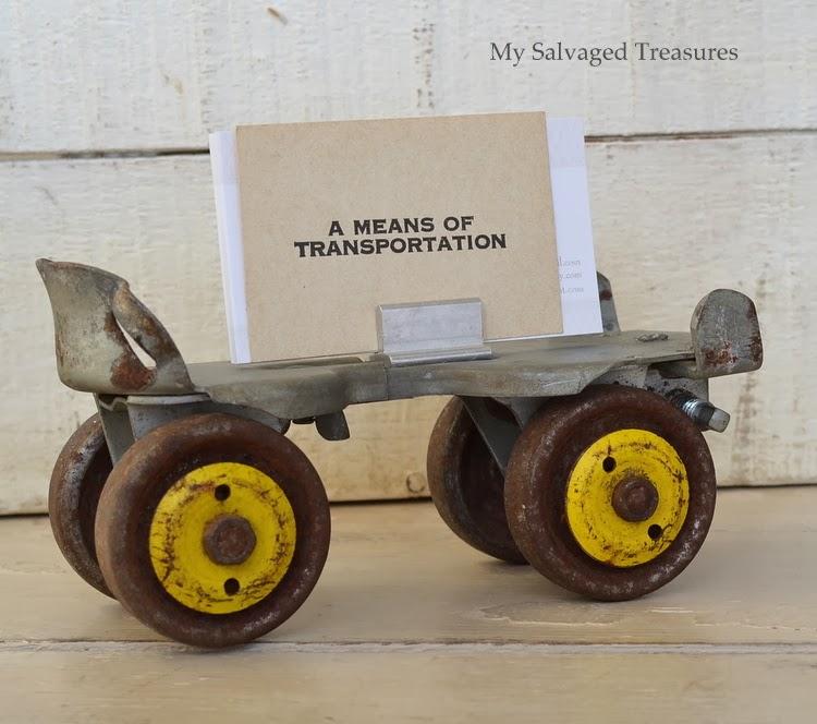 repurposed roller skate