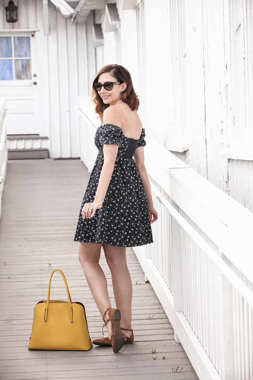 Amy West in sundress from Anthropologie