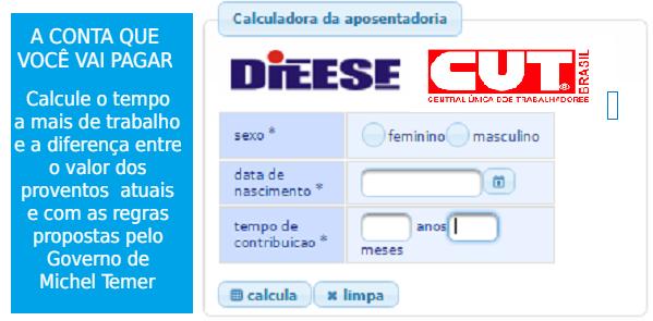 """""""Aposentômetro"""", compare Previdência atual e do governo Temer/PSDB. Teste a sua"""