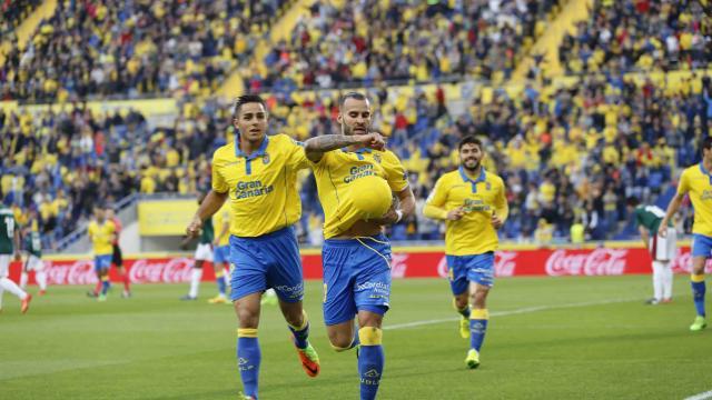 Jesé marcó sus primeros goles con la UD Las Palmas