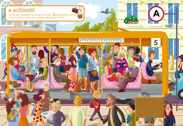 katarzyna urbaniak ilustracje wilga zagubione zwierzaki miasto zagubionych rzeczy autobus