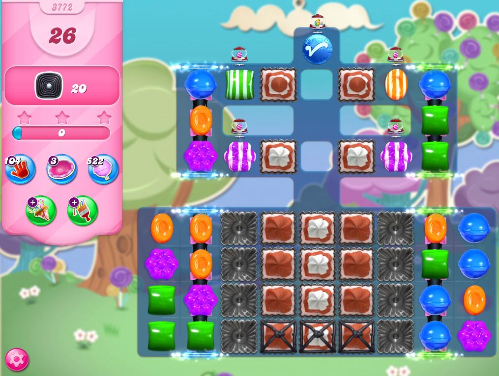 Candy Crush Saga level 3772