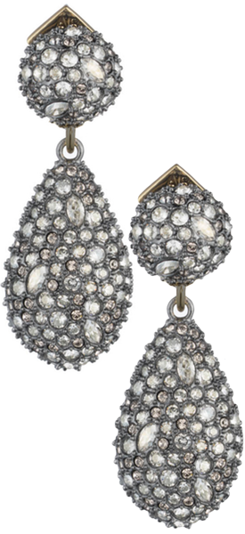 Alexis Bittar Crystal Encrusted Dangling Post Earring
