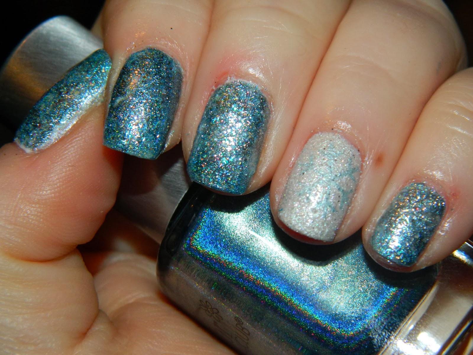 sassy swatches: Frozen Inspired Nail Art