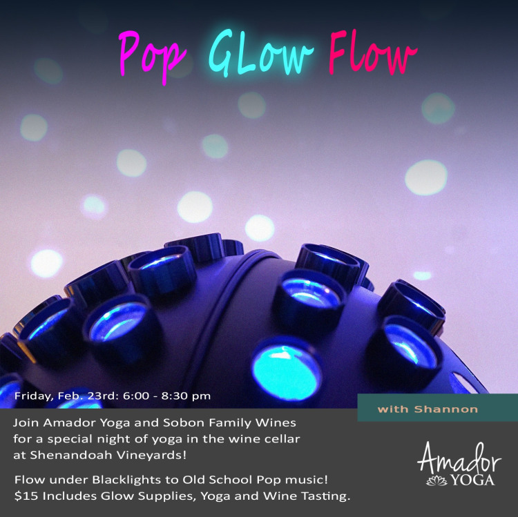 Amador Yoga: Pop Glow Flow - Fri Feb 23