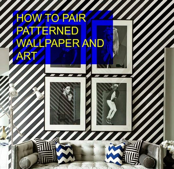 patterned wallpaper and art, hellopeagreen, interiors blogger, wallpaper, art hanging tips