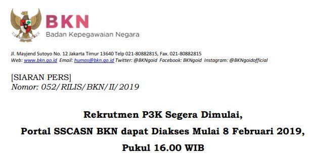 Rekrutmen PPPK Segera Dimulai, Portal SSCASN BKN dapat Diakses Mulai 8 Februari 2019, Pukul 16.00 WIB, https://bloggoeroe.blogspot.com/